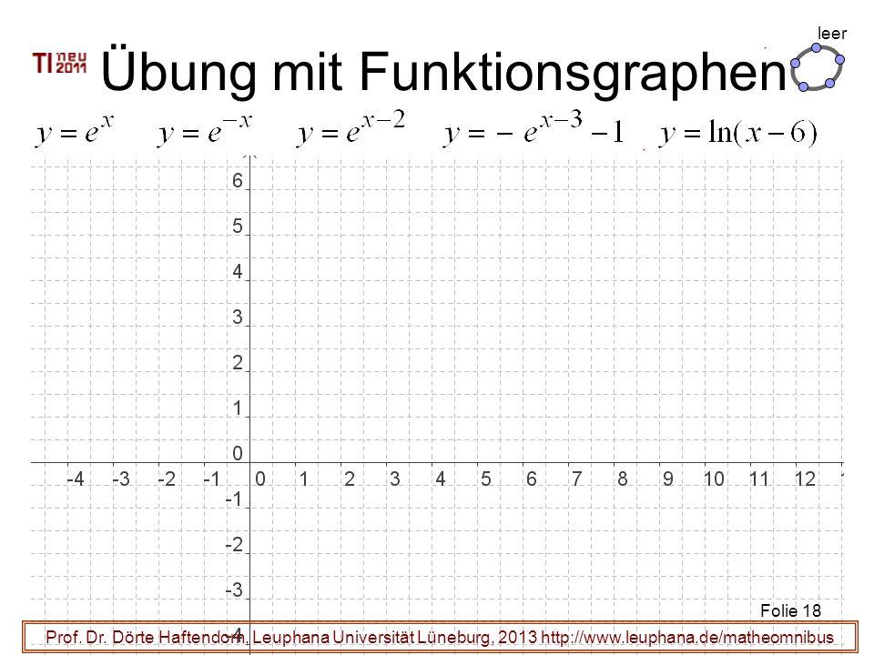 Prof. Dr. Dörte Haftendorn, Leuphana Universität Lüneburg, 2013 http://www.leuphana.de/matheomnibus Übung mit Funktionsgraphen Folie 18 leer