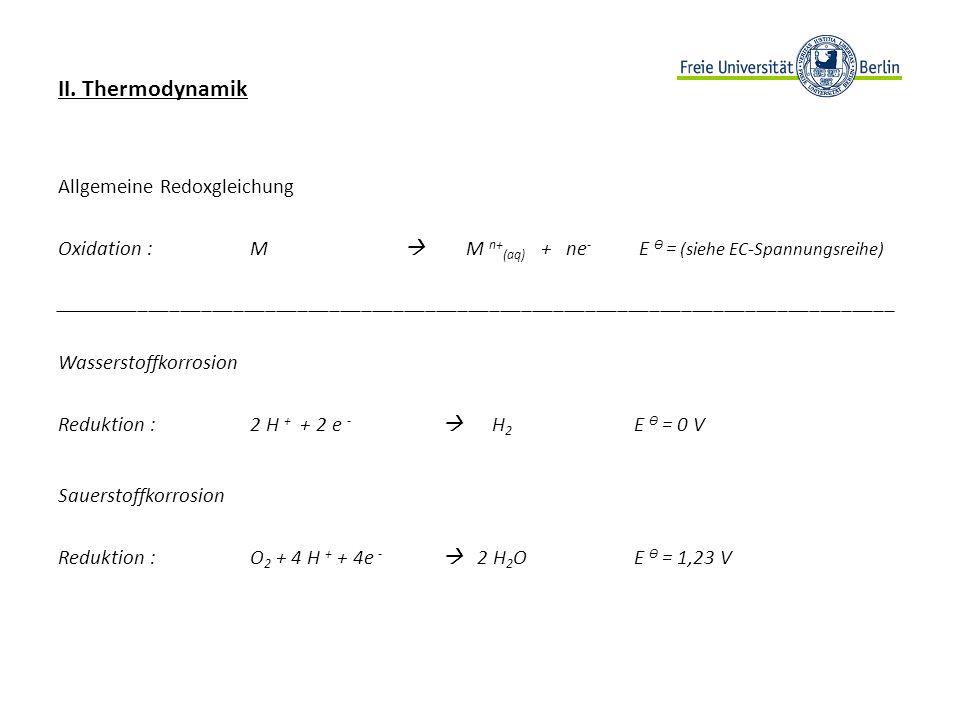 III.Kinetik - Tafel-Gerade Die Logarithmierte Form des kathodischen bzw.
