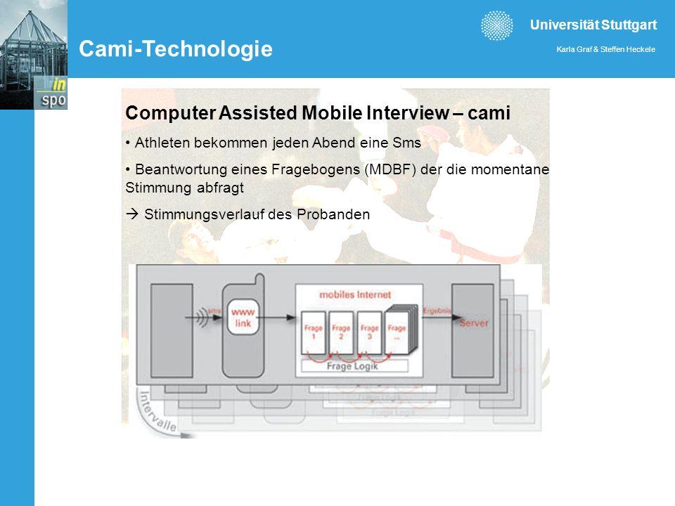 Universität Stuttgart Karla Graf & Steffen Heckele Abb. 3: Architektur der CAMI-Technologie Computer Assisted Mobile Interview – cami Athleten bekomme