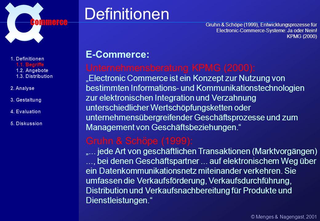 Zukunftspotentiale aus psychologischer Sicht (1) © Menges & Nagengast, 2001 Einsatzgebiet Commerce 1.