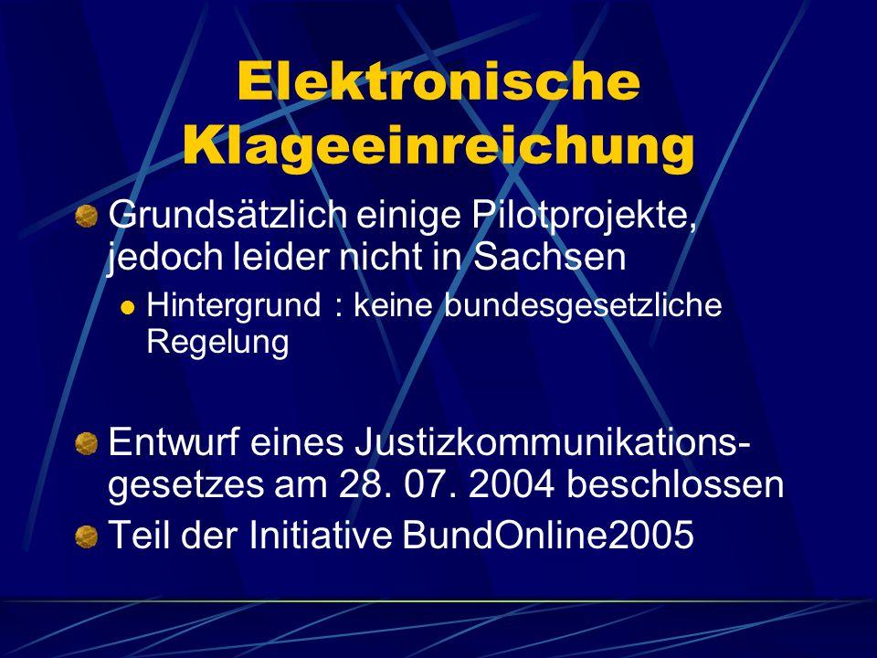 Elektronischer Rechtsverkehr in Familiensachen Pilotprojekt am Amtsgericht Westerstede (Niedersachsen) Inhalt: elektronische Akte Einreichung elektron