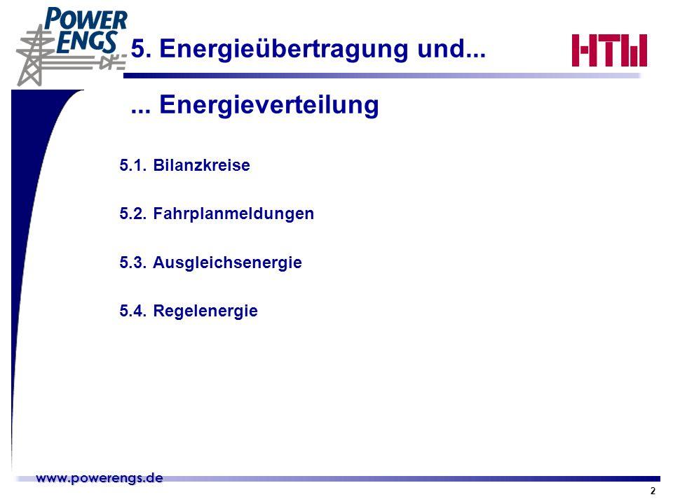 www.powerengs.de www.powerengs.de 2 5. Energieübertragung und... 5.1.Bilanzkreise 5.2.Fahrplanmeldungen 5.3.Ausgleichsenergie 5.4.Regelenergie... Ener