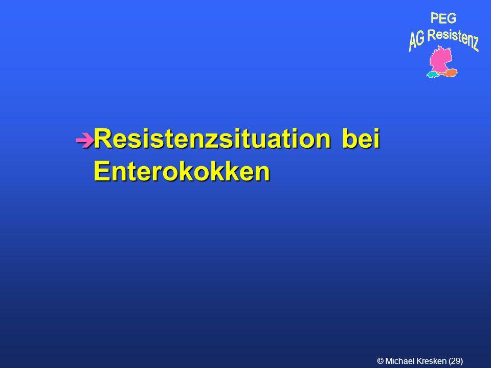 © Michael Kresken (29) è Resistenzsituation bei Enterokokken