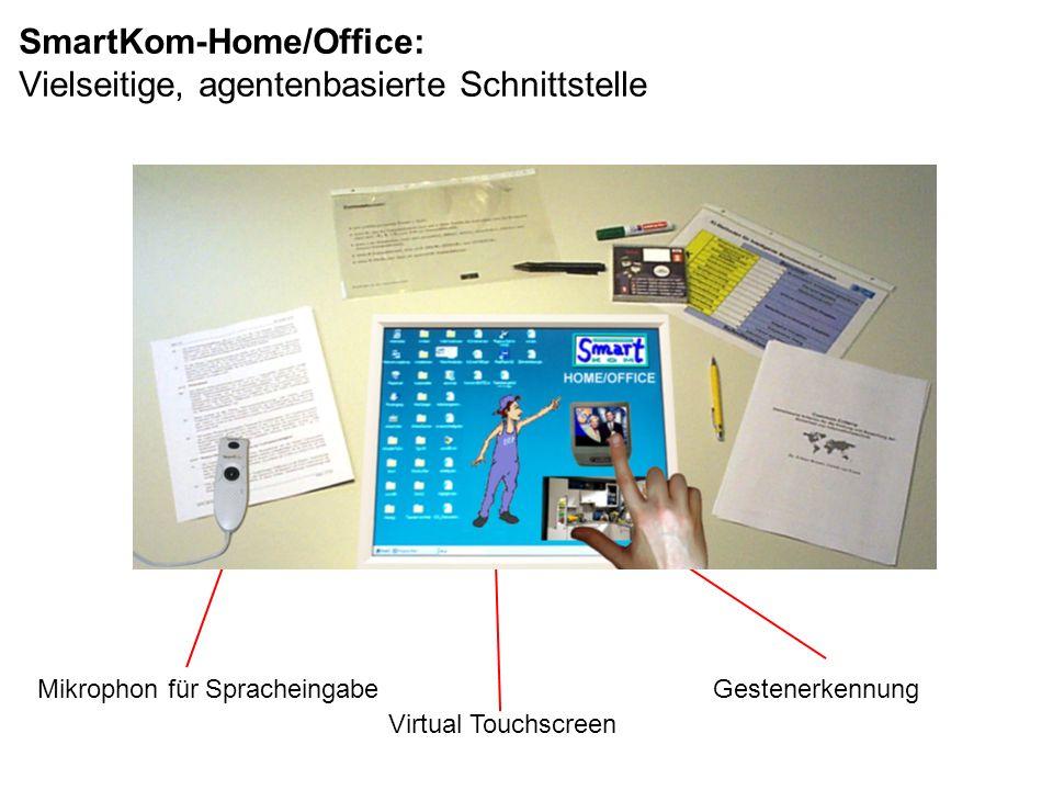 Mikrophon für Spracheingabe Virtual Touchscreen Gestenerkennung SmartKom-Home/Office: Vielseitige, agentenbasierte Schnittstelle