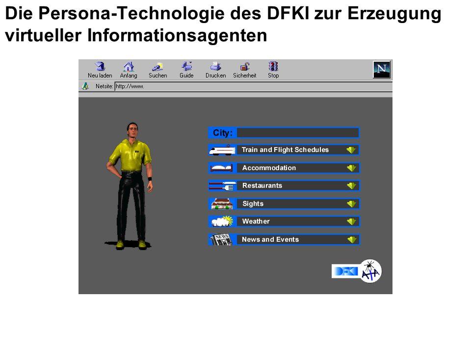 Die Persona-Technologie des DFKI zur Erzeugung virtueller Informationsagenten