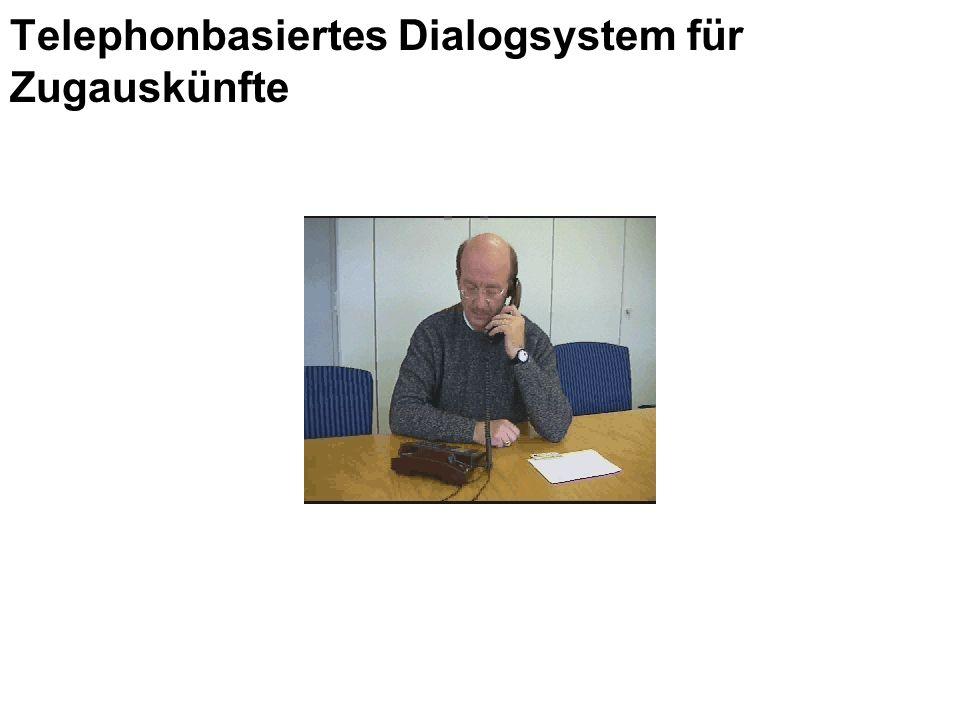 Telephonbasiertes Dialogsystem für Zugauskünfte