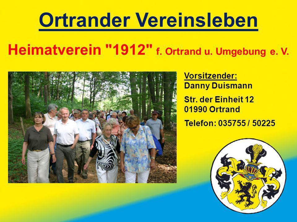 Ortrander Vereinsleben Heimatverein
