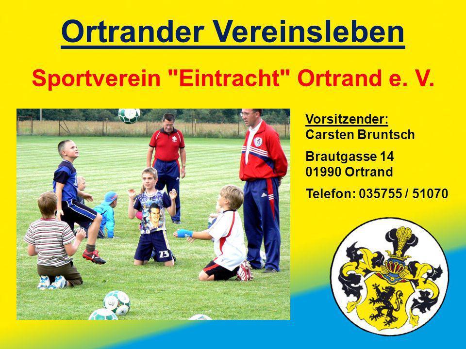 Ortrander Vereinsleben Sportverein
