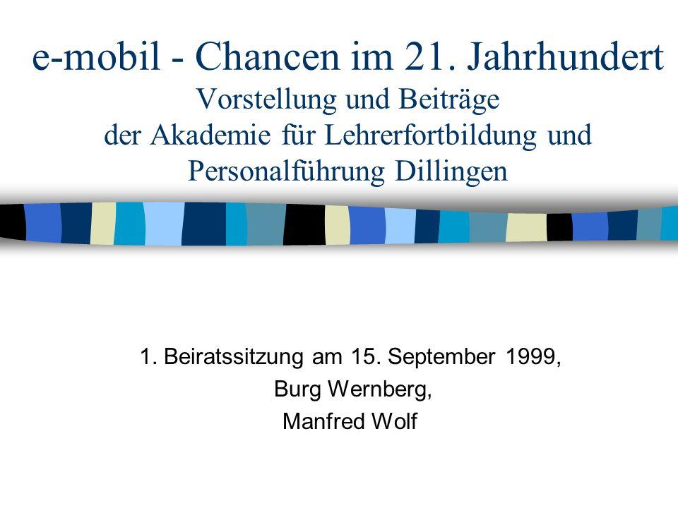 Vorstellung Akademie für Lehrerfortbildung und Personalführung Dillingen - Zentrale Einrichtung des Freistaates Bayern - Ca.