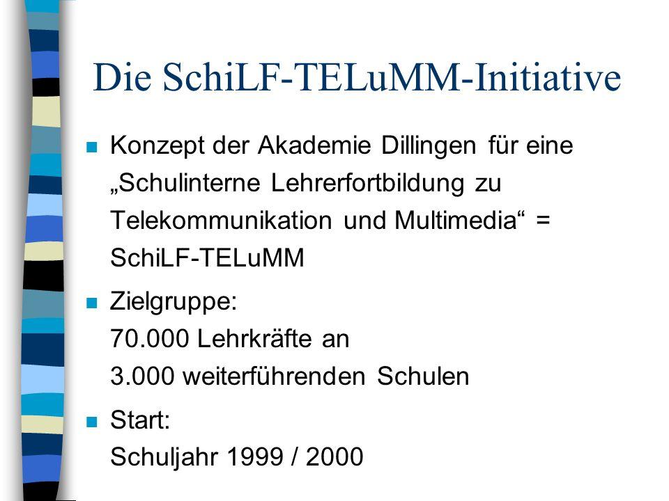 Die SchiLF-TELuMM-Initiative n Konzept der Akademie Dillingen für eine Schulinterne Lehrerfortbildung zu Telekommunikation und Multimedia = SchiLF-TEL