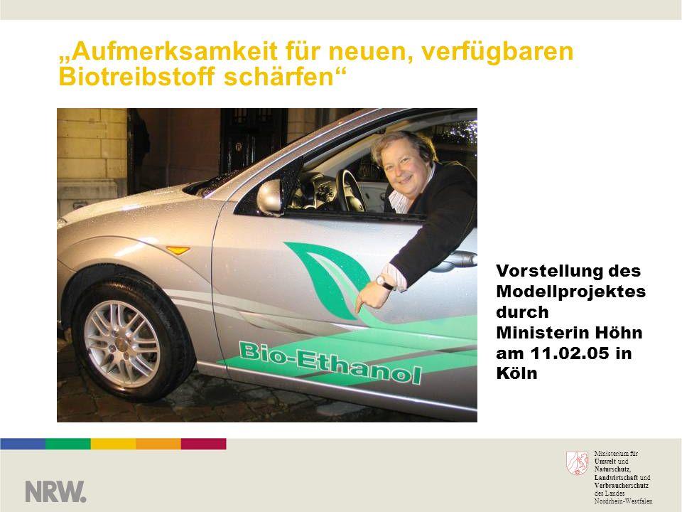 Ministerium für Umwelt und Naturschutz, Landwirtschaft und Verbraucherschutz des Landes Nordrhein-Westfalen Aufmerksamkeit für neuen, verfügbaren Biot
