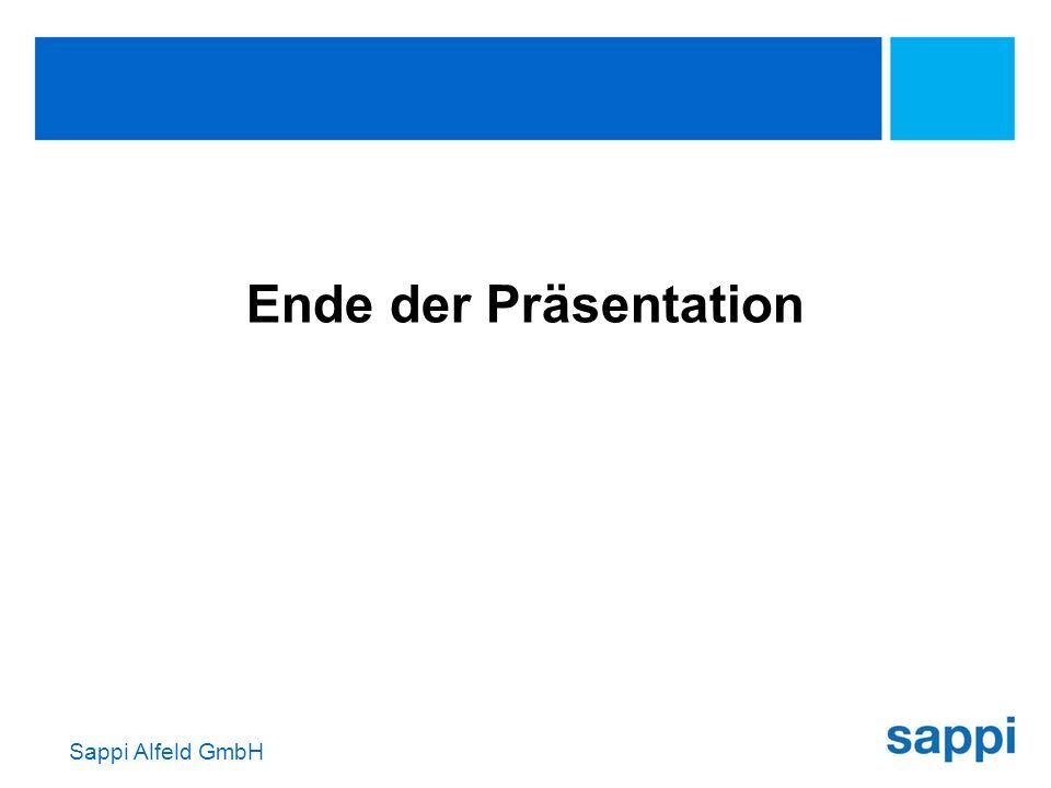 Sappi Alfeld GmbH Ende der Präsentation