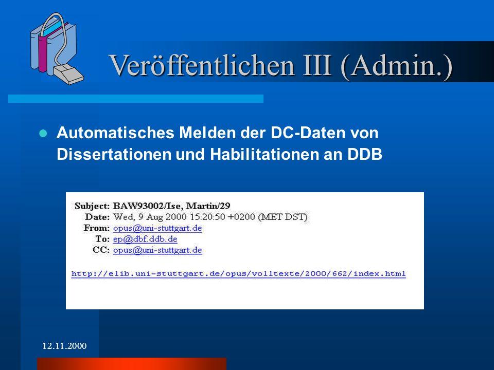 12.11.2000 Veröffentlichen IV (Admin.)