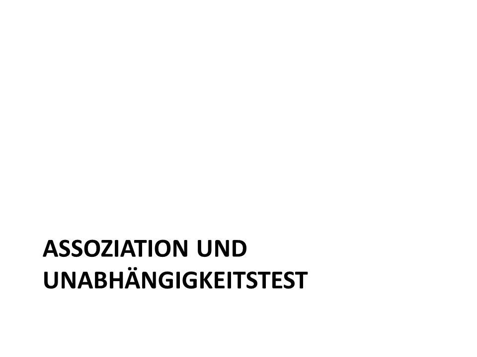 ASSOZIATION UND UNABHÄNGIGKEITSTEST