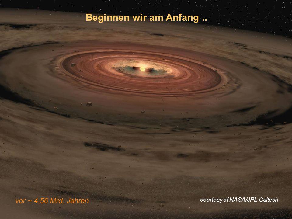 VL Geodynamik & Tektonik, WS 0809 Beginnen wir am Anfang.. vor ~ 4.56 Mrd. Jahren courtesy of NASA/JPL-Caltech