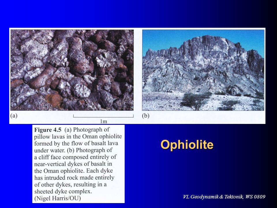 VL Geodynamik & Tektonik, WS 0809 Ophiolite