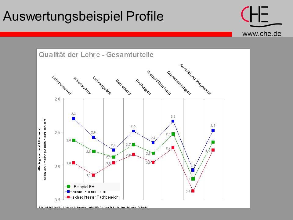 www.che.de Auswertungsbeispiel Profile Beispiel FH
