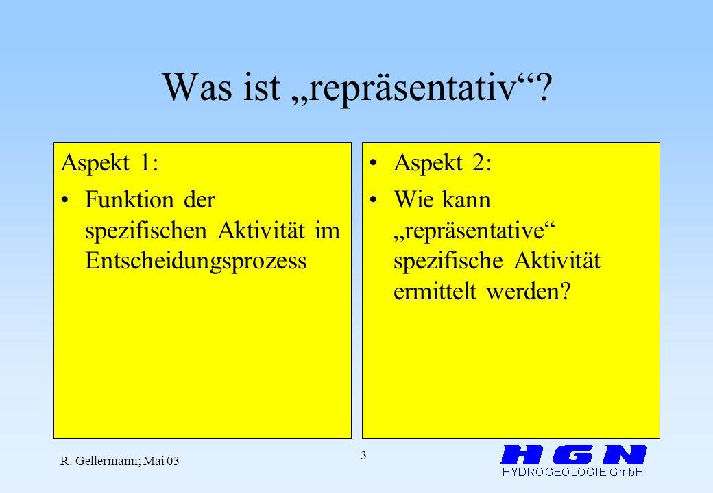 R.Gellermann; Mai 03 3 Was ist repräsentativ.