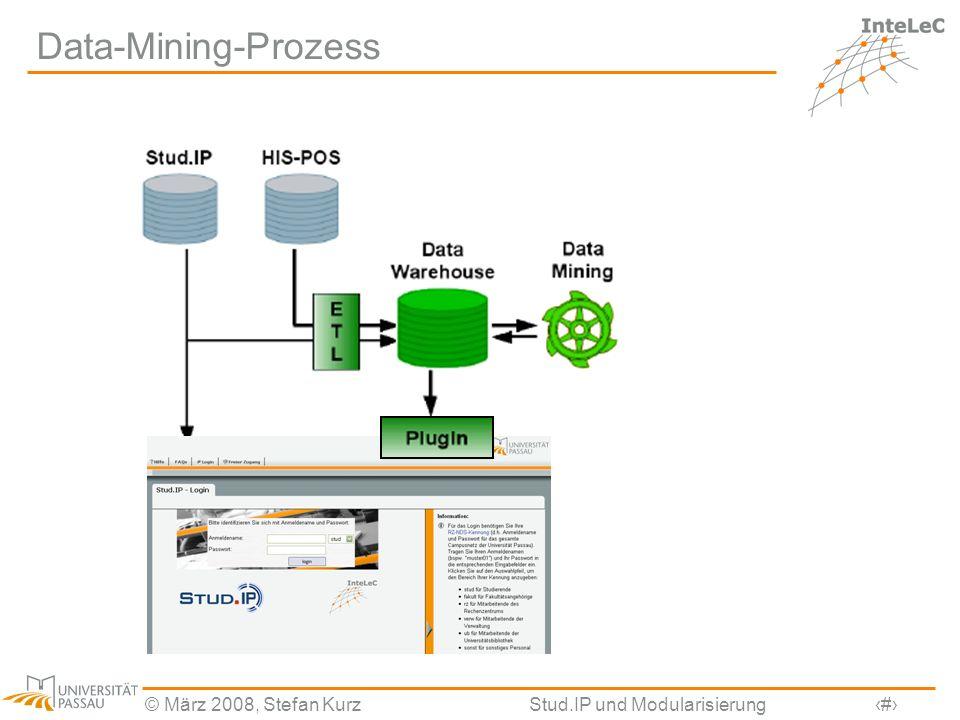 © März 2008, Stefan KurzStud.IP und Modularisierung26 Data-Mining-Prozess
