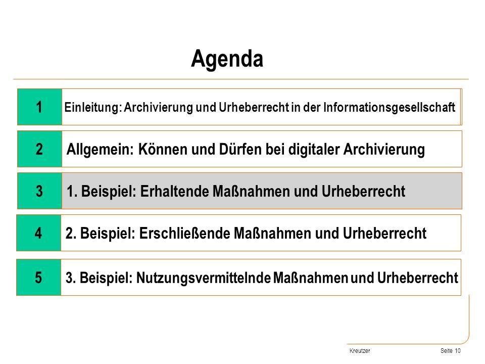 Seite 10 Wandel der Rahmenbedingungen 2Allgemein: Können und Dürfen bei digitaler Archivierung 31. Beispiel: Erhaltende Maßnahmen und Urheberrecht 42.