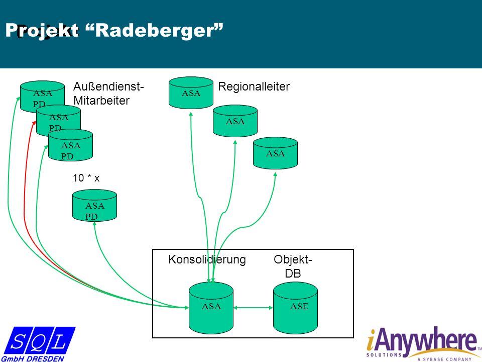 Regionalleiter KonsolidierungObjekt- DB Außendienst- Mitarbeiter ASE ASA PD ASA PD ASA PD ASA PD ASA P Projekt Projekt Radeberger 10 * x