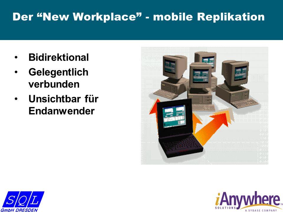 Der New Workplace - mobile Replikation Bidirektional Gelegentlich verbunden Unsichtbar für Endanwender