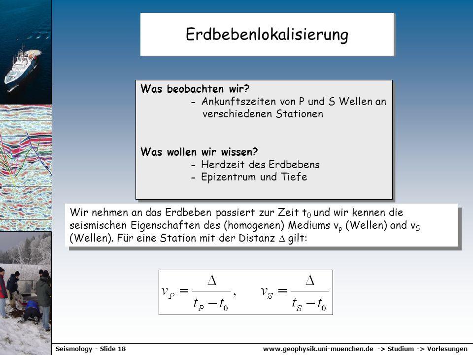 www.geophysik.uni-muenchen.de -> Studium -> VorlesungenSeismology - Slide 17 Regen 2002 Erdbeben 2002 Magnituden Herdkoordinaten Beginn des Hochwasser