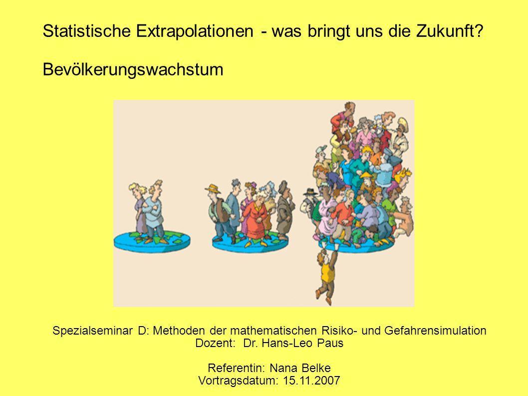 1. Historische Bevölkerungsentwicklung von 8000 v.Chr. bis heute (Quelle: Jischa, S. 8)