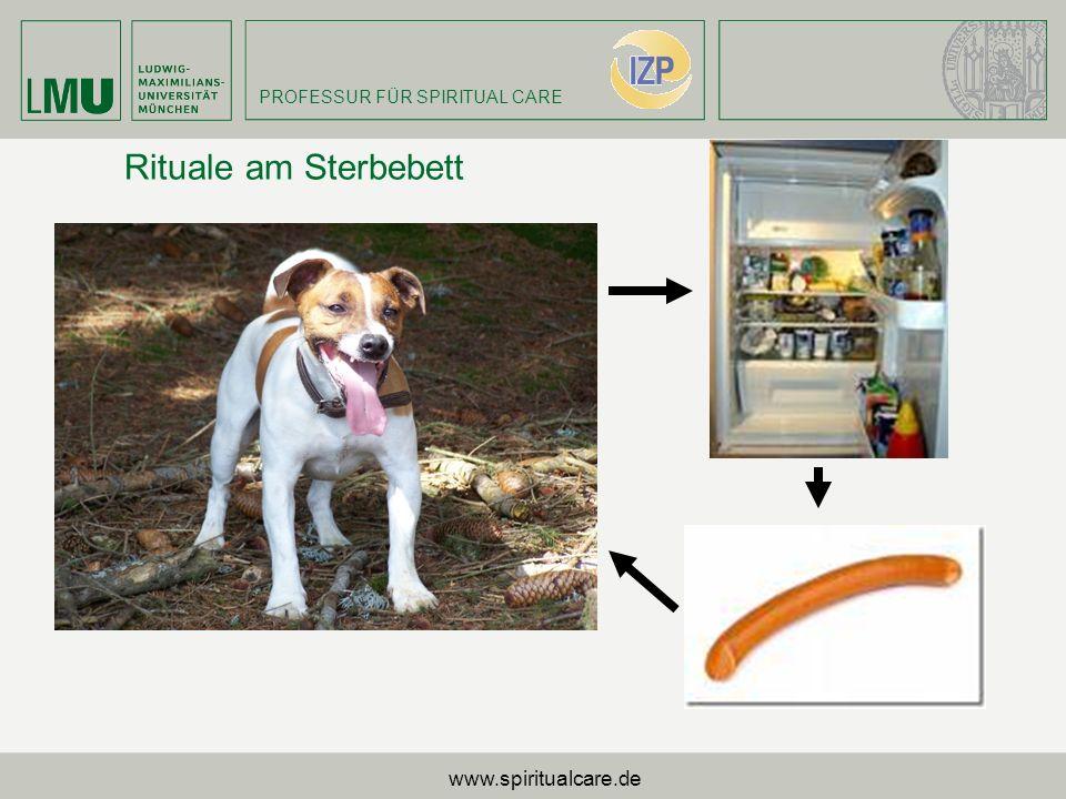 PROFESSUR FÜR SPIRITUAL CARE Rituale am Sterbebett www.spiritualcare.de