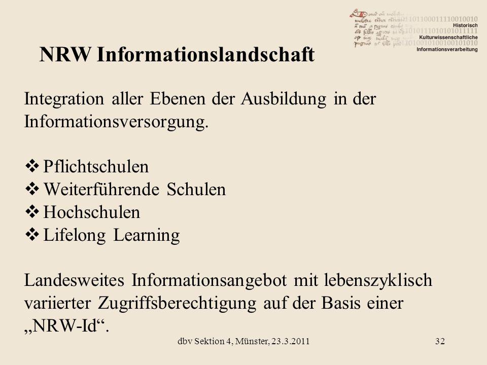 Integration aller Ebenen der Ausbildung in der Informationsversorgung. Pflichtschulen Weiterführende Schulen Hochschulen Lifelong Learning Landesweite