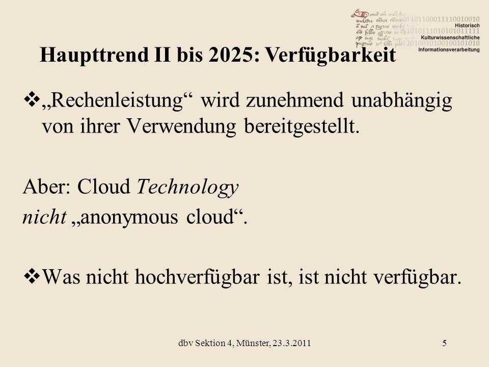 Rechenleistung wird zunehmend unabhängig von ihrer Verwendung bereitgestellt. Aber: Cloud Technology nicht anonymous cloud. Was nicht hochverfügbar is