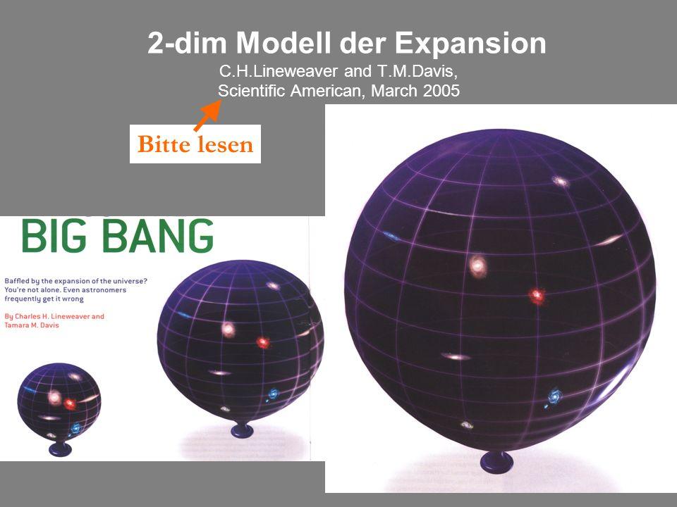 22 2-dim Modell der Expansion C.H.Lineweaver and T.M.Davis, Scientific American, March 2005 Bitte lesen