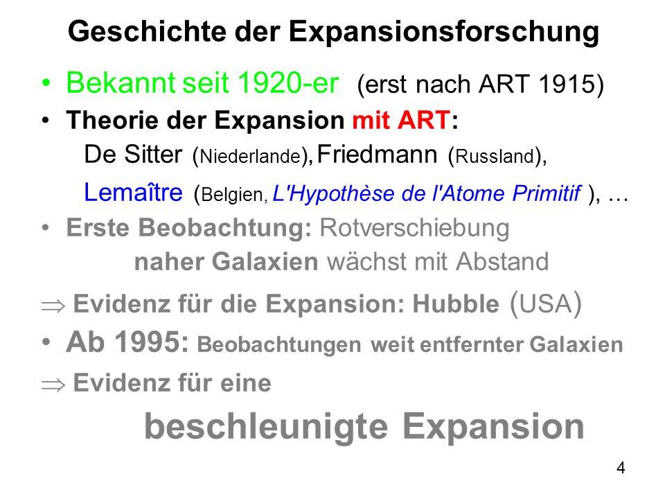 25 Was ist die Expansion: Expansion = Dehnung des.