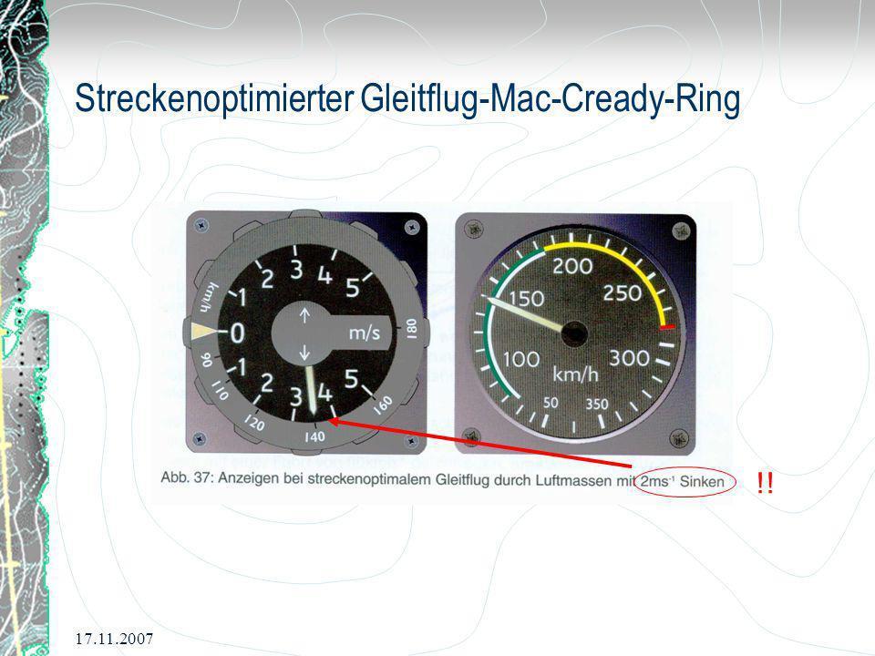 17.11.2007 Streckenoptimierter Gleitflug-Mac-Cready-Ring !!