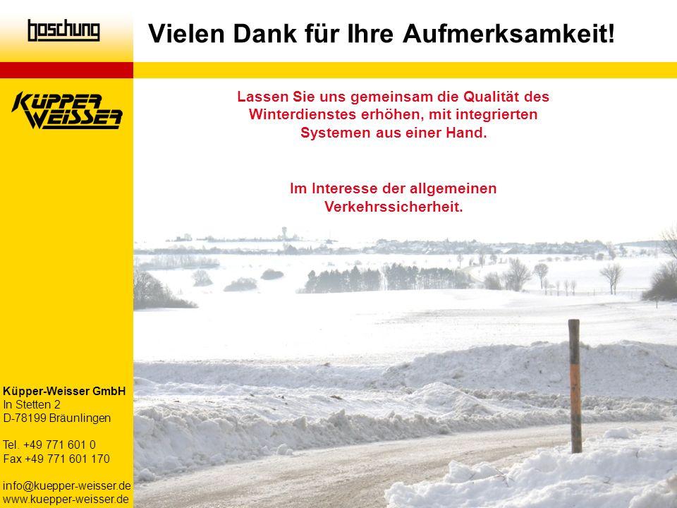 Lassen Sie uns gemeinsam die Qualität des Winterdienstes erhöhen, mit integrierten Systemen aus einer Hand. Im Interesse der allgemeinen Verkehrssiche
