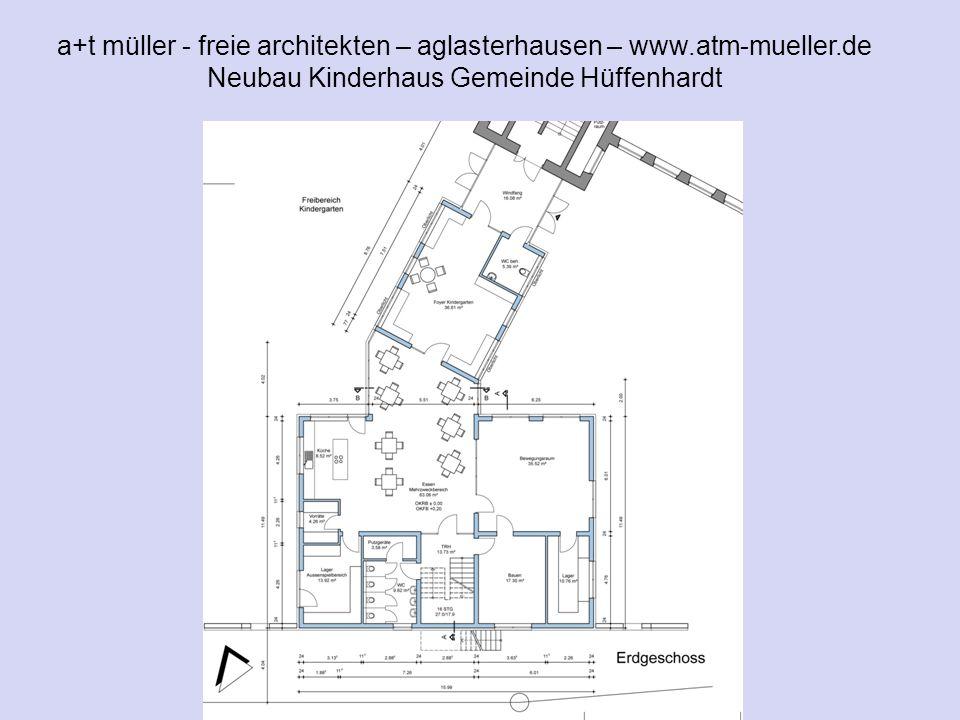 a+t müller - freie architekten – aglasterhausen – www.atm-mueller.de Neubau Kinderhaus Gemeinde Hüffenhardt V1 EG