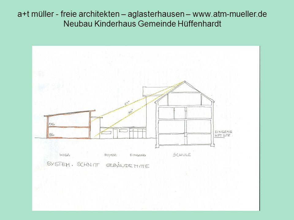 a+t müller - freie architekten – aglasterhausen – www.atm-mueller.de Neubau Kinderhaus Gemeinde Hüffenhardt Sonneneinst.