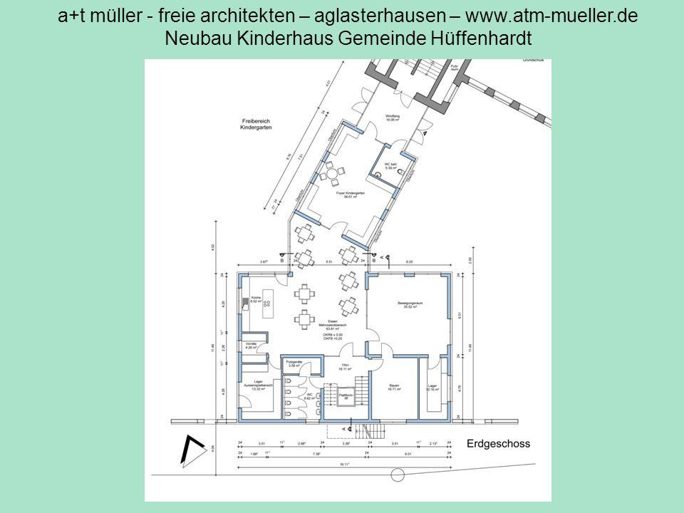 a+t müller - freie architekten – aglasterhausen – www.atm-mueller.de Neubau Kinderhaus Gemeinde Hüffenhardt V2 EG