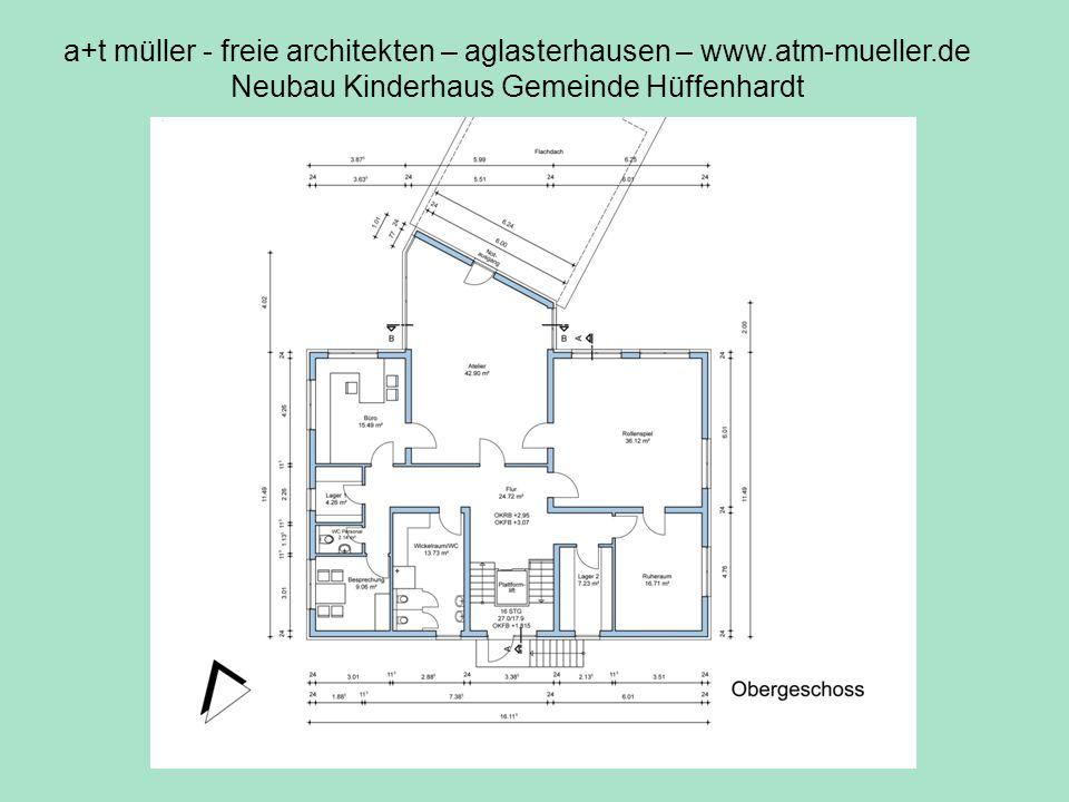 a+t müller - freie architekten – aglasterhausen – www.atm-mueller.de Neubau Kinderhaus Gemeinde Hüffenhardt V2 OG