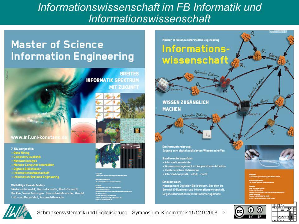 Schrankensystematik und Digitalisierung – Symposium Kinemathek 11/12.9.2008 23 Was sind Schranken.