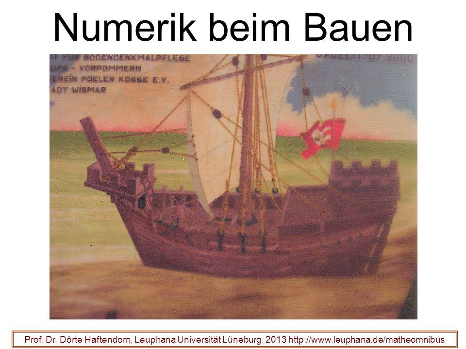 Numerik beim Bauen Prof. Dr. Dörte Haftendorn, Leuphana Universität Lüneburg, 2013 http://www.leuphana.de/matheomnibus