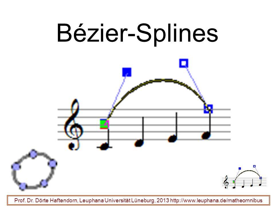 Bézier-Splines Prof. Dr. Dörte Haftendorn, Leuphana Universität Lüneburg, 2013 http://www.leuphana.de/matheomnibus