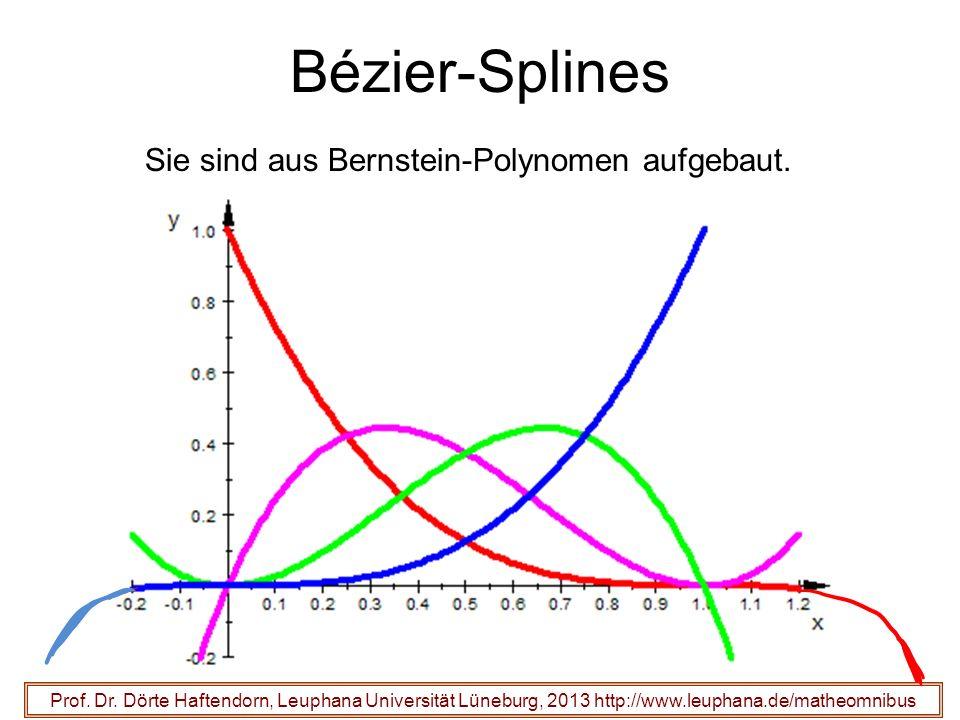 Prof. Dr. Dörte Haftendorn, Leuphana Universität Lüneburg, 2013 http://www.leuphana.de/matheomnibus Bézier-Splines Sie sind aus Bernstein-Polynomen au