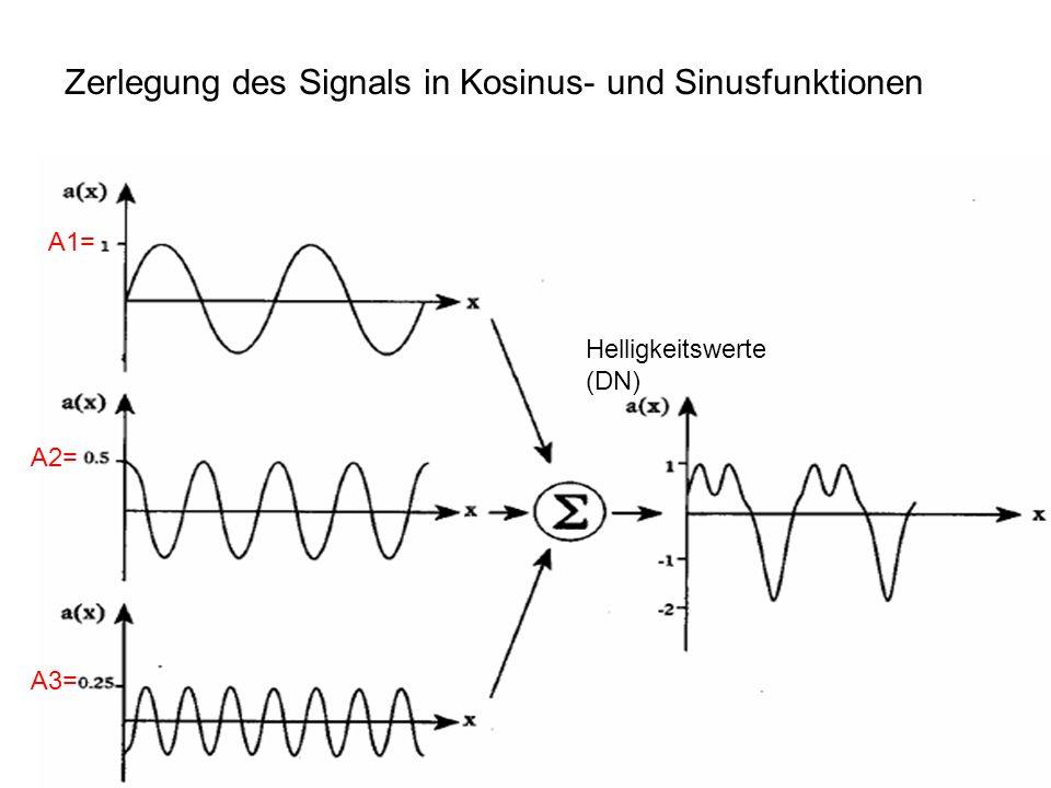 Sylvain Bonnet, Lehrstuhl für mathematische Geologie 9 Helligkeitswerte (DN) A1= A2= A3= Zerlegung des Signals in Kosinus- und Sinusfunktionen