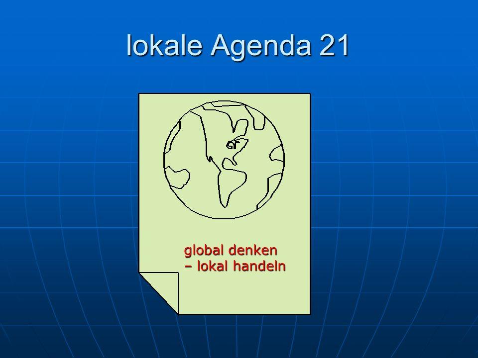 lokale Agenda 21 global denken – lokal handeln