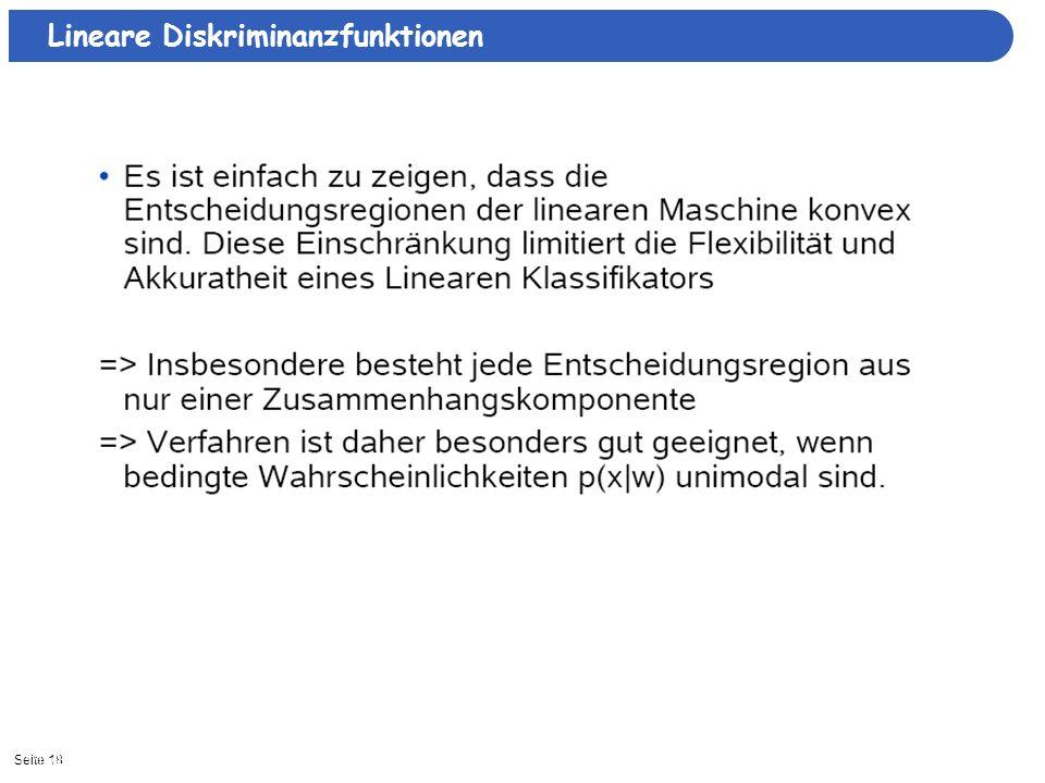 Seite 1811/15/2013| Lineare Diskriminanzfunktionen