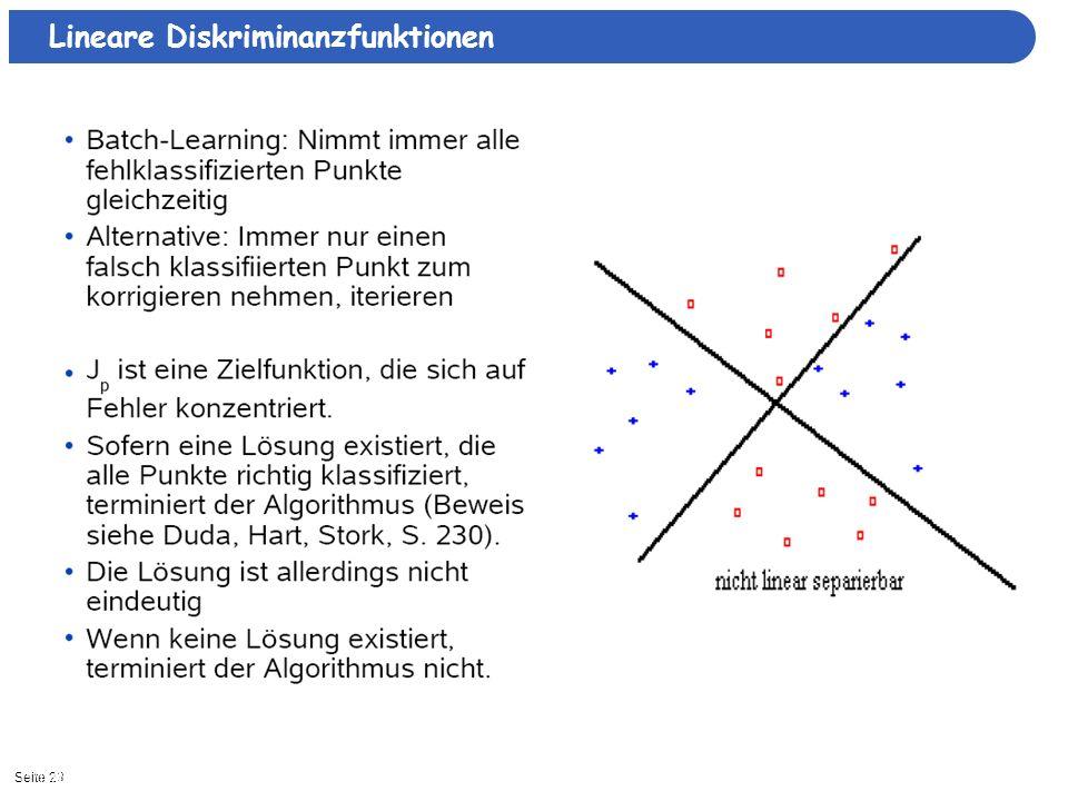 Seite 2311/15/2013| Lineare Diskriminanzfunktionen