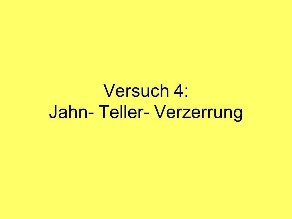 Versuch 4: Jahn- Teller- Verzerrung