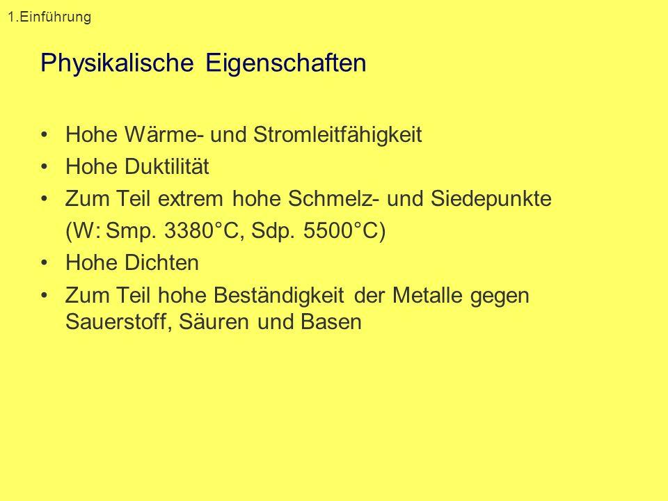 Demo 1: Edel vs. Unedel 2.1 Oxidationsstufen /