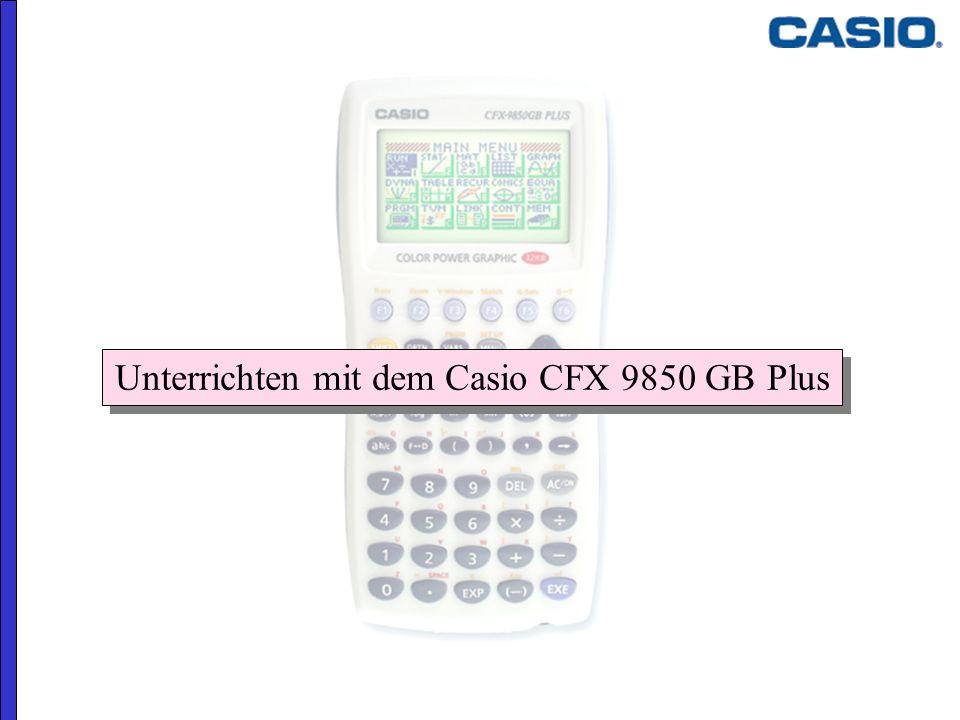 Unterrichten mit dem Casio CFX 9850 GB Plus